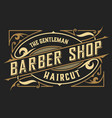 barber shop logo western style vector image