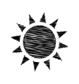 Black icon with scribble effect vector image vector image