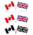 Canada and the UK vector image vector image