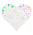 chemistry symbols fireworks heart vector image vector image