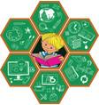 children and school vector image vector image