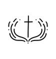 christian logo emblem vector image vector image