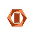 close door logo vector image