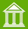 colonnade icon green vector image vector image