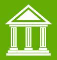 colonnade icon green vector image vector image