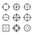 crosshair icons set isolated vector image vector image