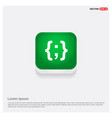 curly bracket icon green web button vector image