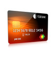 debit or credit card isolated icon vector image vector image