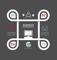 design circle line minimal style infographic templ vector image vector image