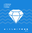 diamond sign jewelry symbol gem stone flat vector image
