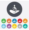 Disabled human insurance sign Wheelchair man vector image vector image