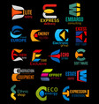 e icons company and brand corporate identity signs vector image vector image