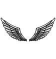 eagle wings on light background design element vector image vector image