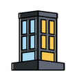 edifice building isolated vector image vector image