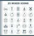 farm icons set collection of hanger plant seeds vector image vector image
