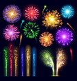 firework realistic style celebration holiday event vector image