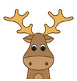 funny christmas moose vector image