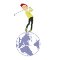 Golf is a popular world game vector image