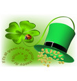 good luck and happy st patricks day vector image