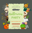 Halloween banner template Place for your text vector image vector image