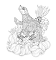Hand drawn doodle outline sea lion vector image vector image