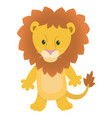hand drawn lion natural colors vector image