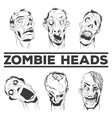 Hand drawn Zombie Heads vector image