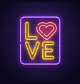 happy valentines day love day banner logo vector image