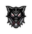 head wolf vector image