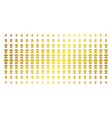 human anatomy golden halftone array vector image vector image