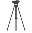 icon construction level on tripod vector image vector image
