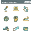 Icons line set premium quality of business people vector image