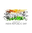 Indian Republic Day background with flag vector image vector image