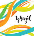 Inscription Brazil background colors of the vector image