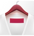 Jacket with clothes hanger vector image vector image