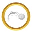Kick of golf ball icon vector image vector image