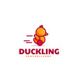 logo duckling simple mascot style vector image