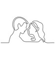 man and woman silhouettes in love vector image vector image
