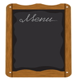 Menu board outside a restaurant or cafe vector image vector image