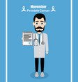 movember prostate cancer vector image vector image