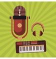 Music icon Retro concept Flat vector image vector image