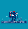 office people riding bicycle healthy lifestyle vector image vector image
