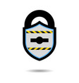 protection shield castle web security guard vector image