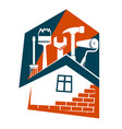 repair housing symbol vector image vector image