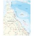 road map cap york peninsula and queensland vector image