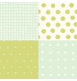 set 4 hand drawn cute seamless patterns vector image vector image