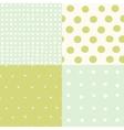 set 4 hand drawn cute seamless patterns vector image