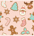 set cute gingerbread cookies for christmas vector image vector image