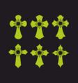 set of crosses vector image vector image