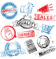 shopping grunge stamps vector image vector image